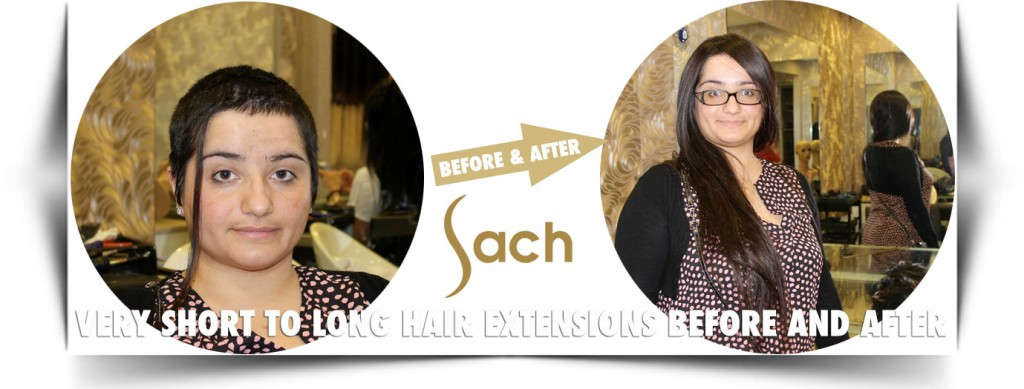 Very Short to Long Hair Extensions Before and After