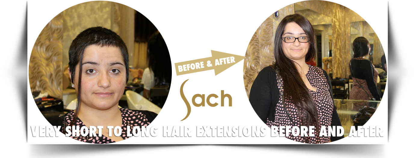 Very Short To Long Hair Extensions Before And After Sach Vogue