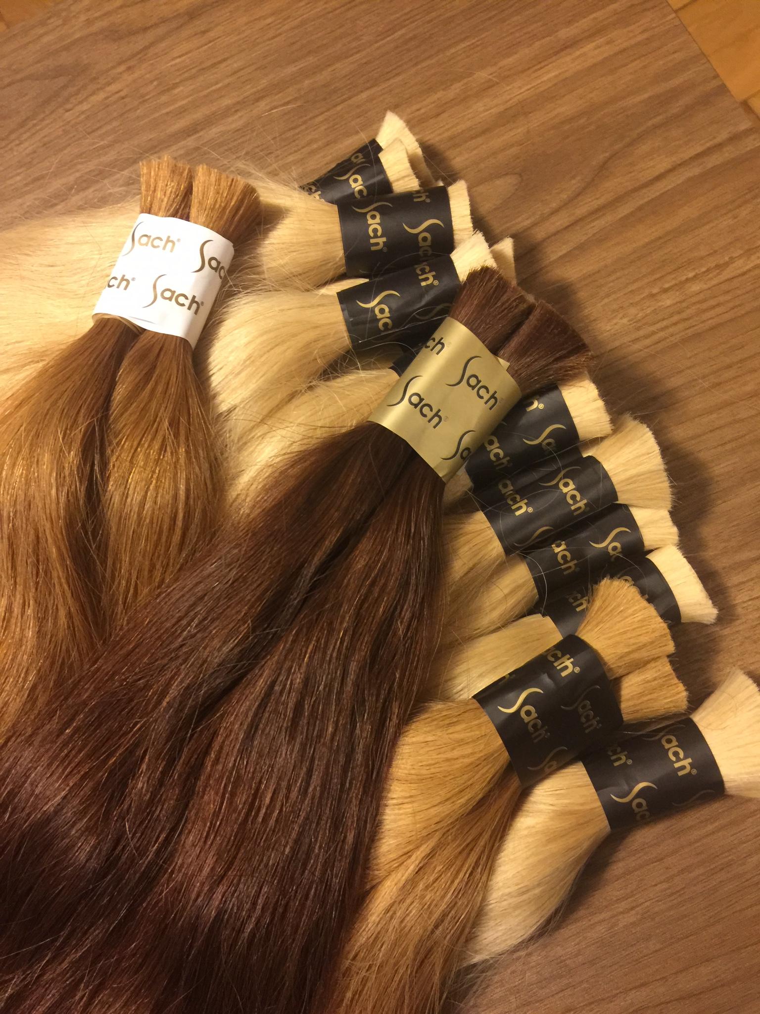 Colored Bulk Hair Products Green Process Virgin Cuticle Hair Sach